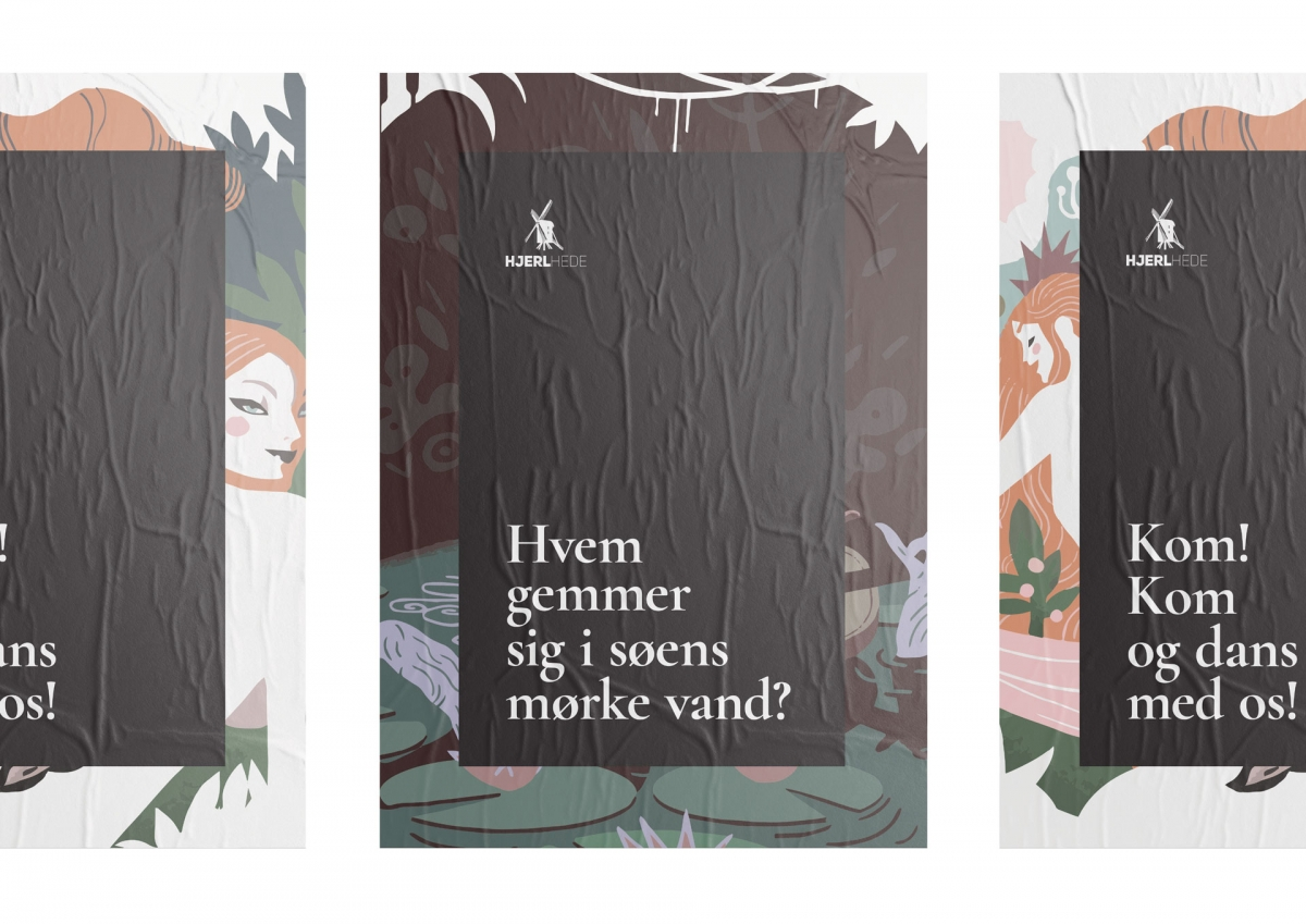 Three poster designs for the museums route of What they feared.