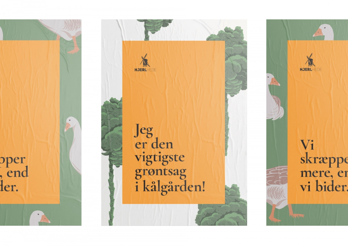 Three poster designs for the museums route of What they cultivated.