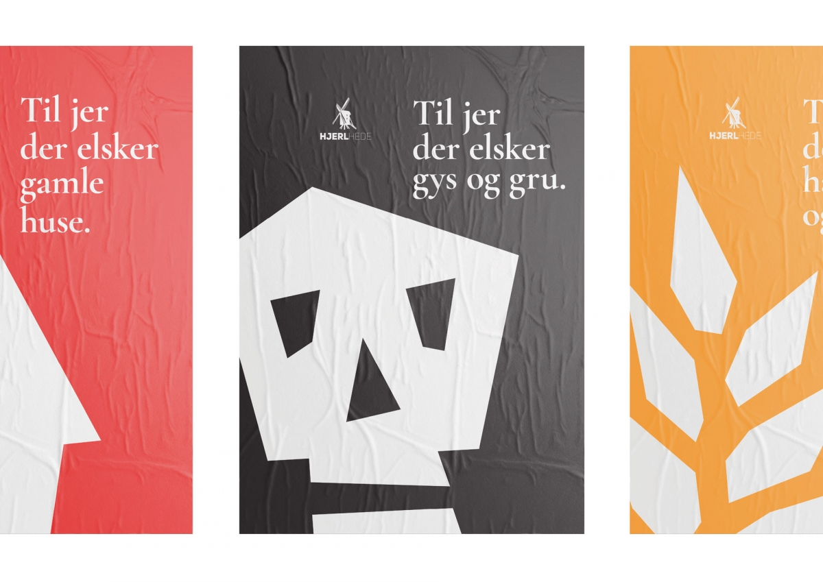 Three poster designs for the museums routes